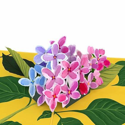Lilacs 3D Card