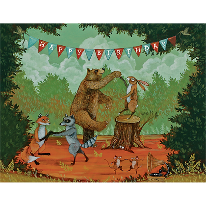 Happy Birthday Forest Party Card