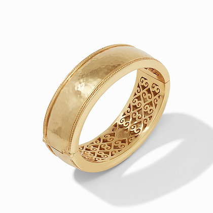 Cassis Statement Gold Hinge Bangle