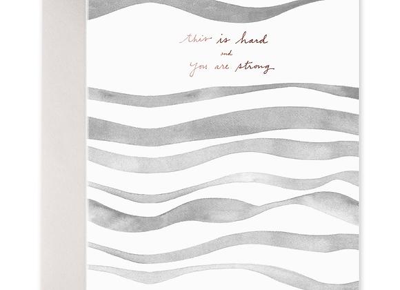 Gray Waves Card