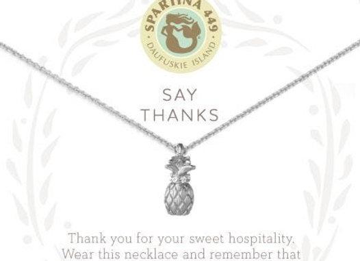 Sea La Vie Necklace Silver- Say Thanks