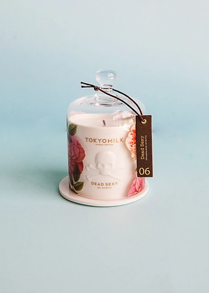 Dead Sexy- Mystic- Ceramic Candle with Cloche