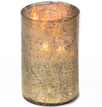 Matte Gold Hurricane Candle