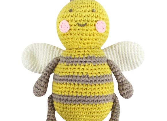 Crochet Baby Bee Rattle Toy