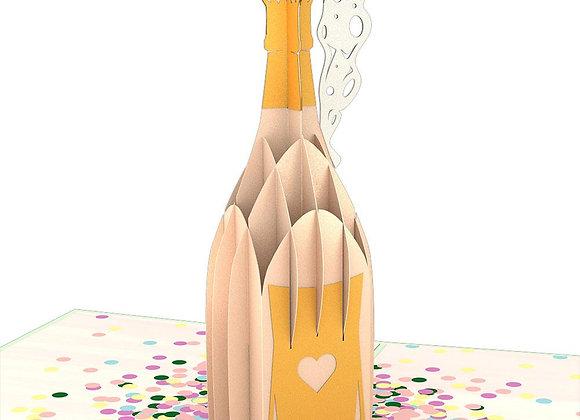 Champagne Pop 3D Card
