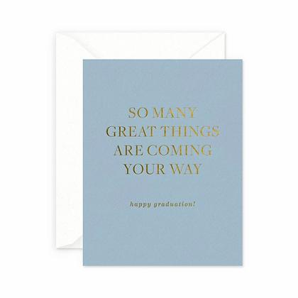 Great Things Graduation Card