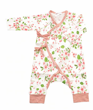 Wrap Coverall in Cherry Blossom
