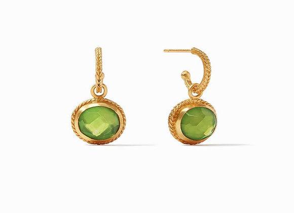 Calypso Hoop & Charm Earring- Jade Green
