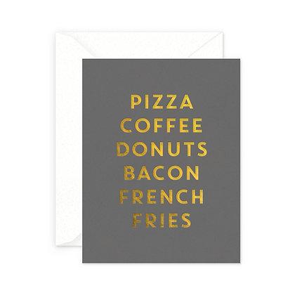 Junk Food Greeting Card