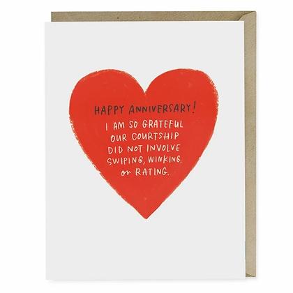 Swiping Winking Anniversary Card