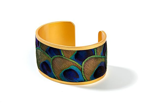 Mary Ann Wide Feather Cuff