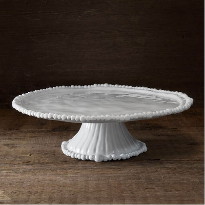 White Pedestal Cake Plate - VIDA Alegria