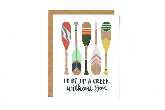 Up A Creek Paddles Card