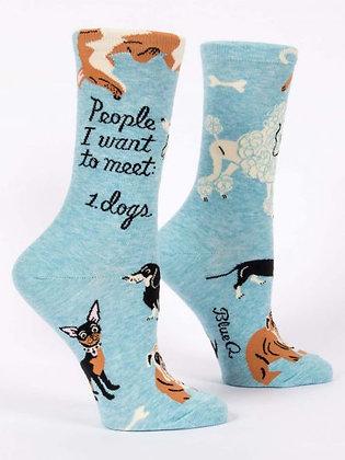 People to Meet: Dogs - Women's Crew Socks