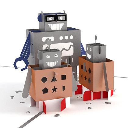 Robots Pop Up Card
