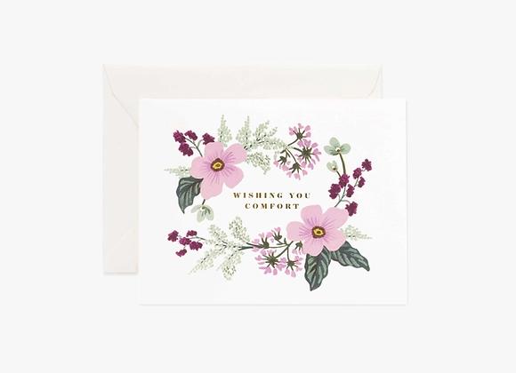 Wishing You Comfort Bouquet Card