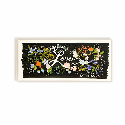 Love & Thanks Floral No.10 Card