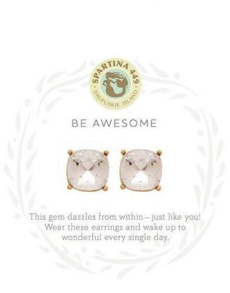 Sea La Vie Sea Glass Stud Earrings-Be Awesome