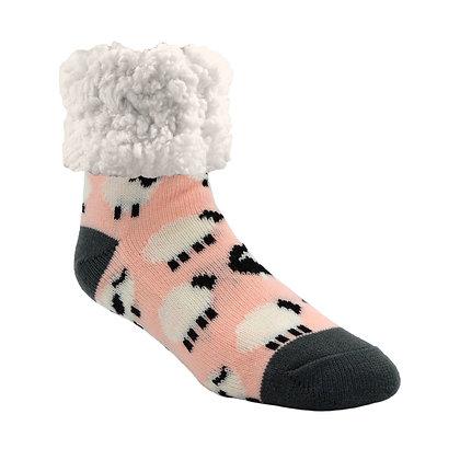 Sheep- Adult Slipper Socks