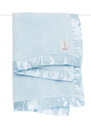 Little Giraffe Blue Boxed Chenille Blanket