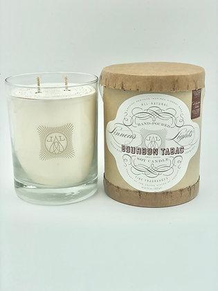 Bourbon Tabac- Linnea's Lights  2-wick Candle