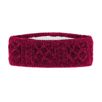 Raspberry Cable Knit Headband