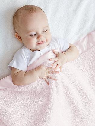 Little Giraffe Pink Boxed Chenille Blanket