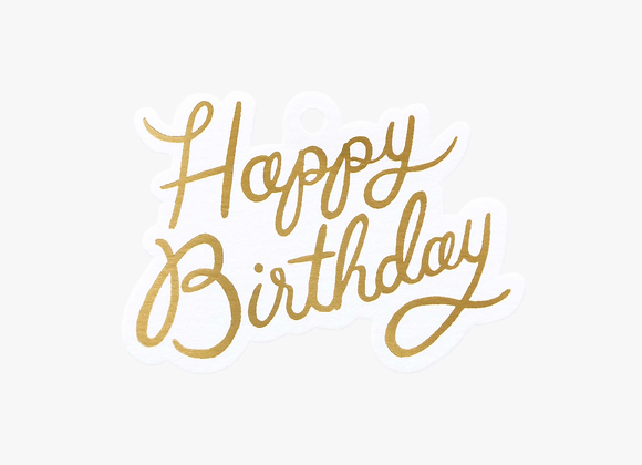 Happy Birthday Die-Cut Gift Tags