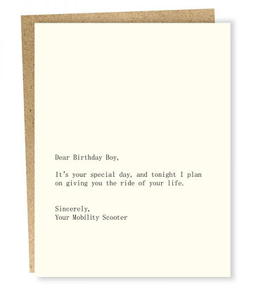Birthday Boy Scooter Card