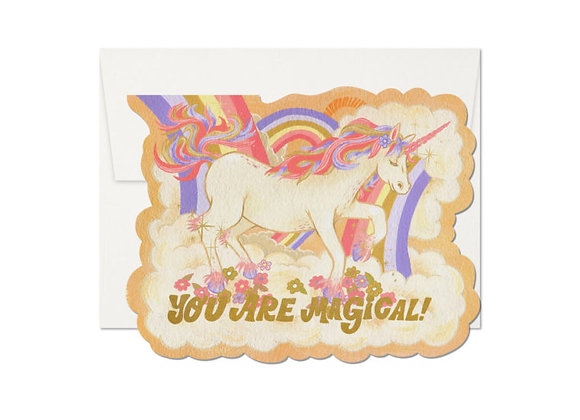 Magical Unicorn Die-Cut Card