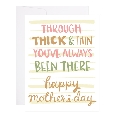 Thick & Thin Card