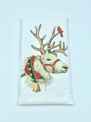 White Reindeer  Single Flour Sack Towel