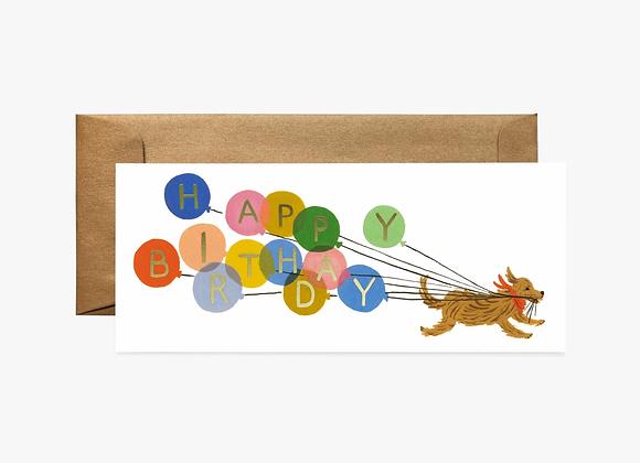 Birthday Balloon No.10 Card