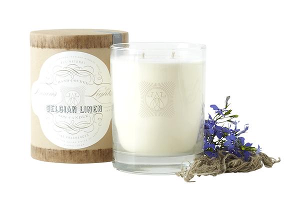 Belgian Linen- Linnea's Lights 2-wick Candle