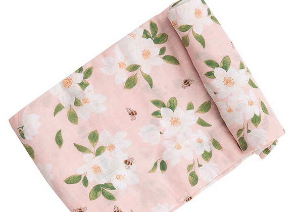 Magnolias Swaddle Blanket