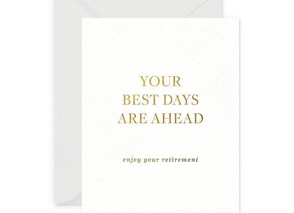 Best Days Retirement Card