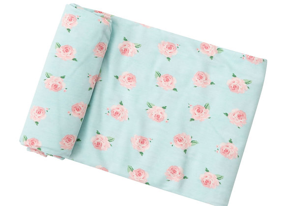 Bamboo Swaddle Blanket in Petite Rose