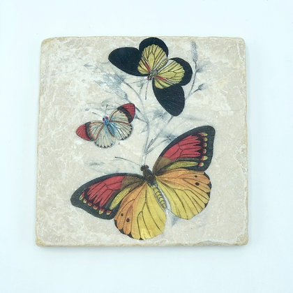 Single Marble Coaster- Butterfly Trio