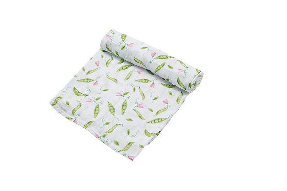 Sweet Peas Swaddle Blanket