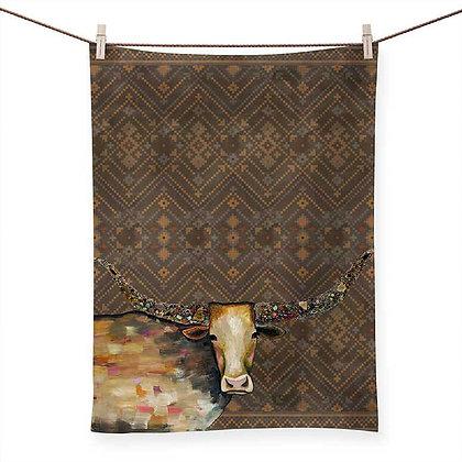 Longhorn Geode - Tribal Copper Tea Towel