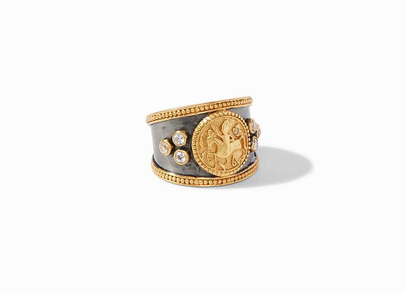 Coin Crest Mixed Metal Ring