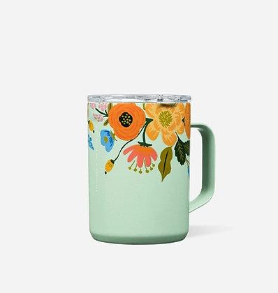 Mint Lively Floral Coffee Mug