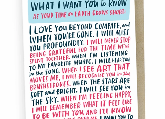 Your Time on Earth Empathy Card