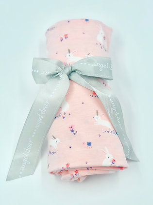 Pink Baby Bunnies Bamboo Swaddle Blanket