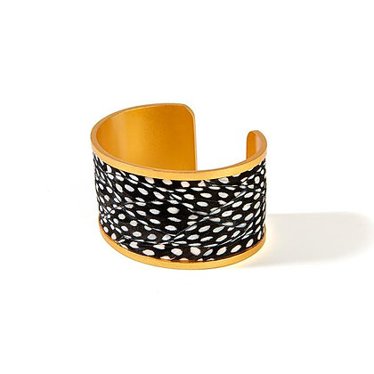 Courtney Wide Feather Cuff