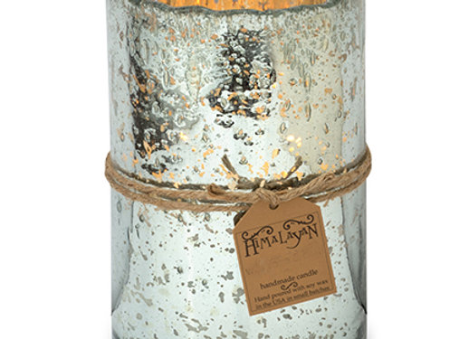 Silver Hurricane Candle