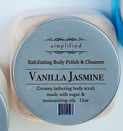 Vanilla Jasmine Exfoliating Body Polish 16oz