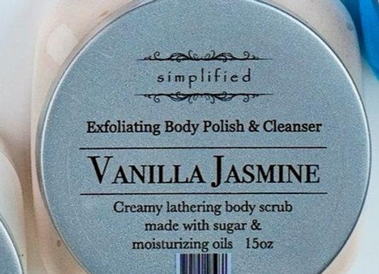 Vanilla Jasmine Exfoliating Body Polish 16oz