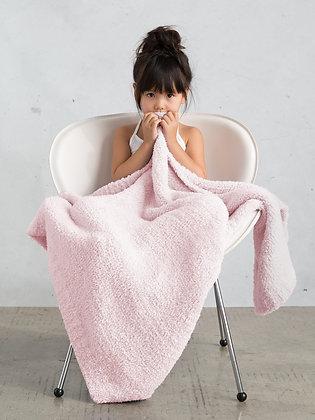 Little Giraffe Pink Plush Chenille Knit Blanket