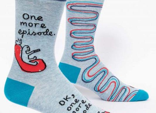 One More Episode Men's Crew Socks